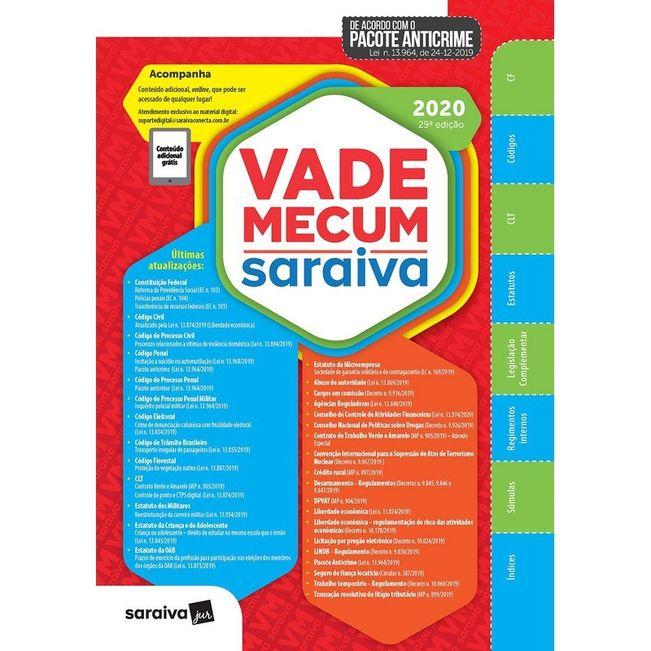 VADE MECUM SARAIVA 2020 - 1º SEMESTRE